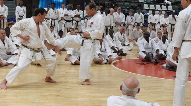 Africa Training with JKA WF senseis